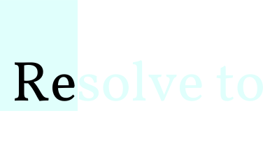 Resolve To Indulge